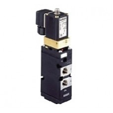 5/2 and 3/2-way Solenoid Valve  for pneumatics, servo-assisted