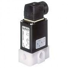 2/2 or 3/2 way solenoid valve with isolating diaphragm